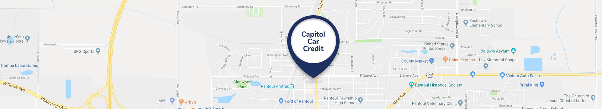 Capitol Car Credit Map